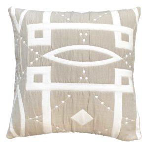 Cuscino in tessuto con motivo geometrico