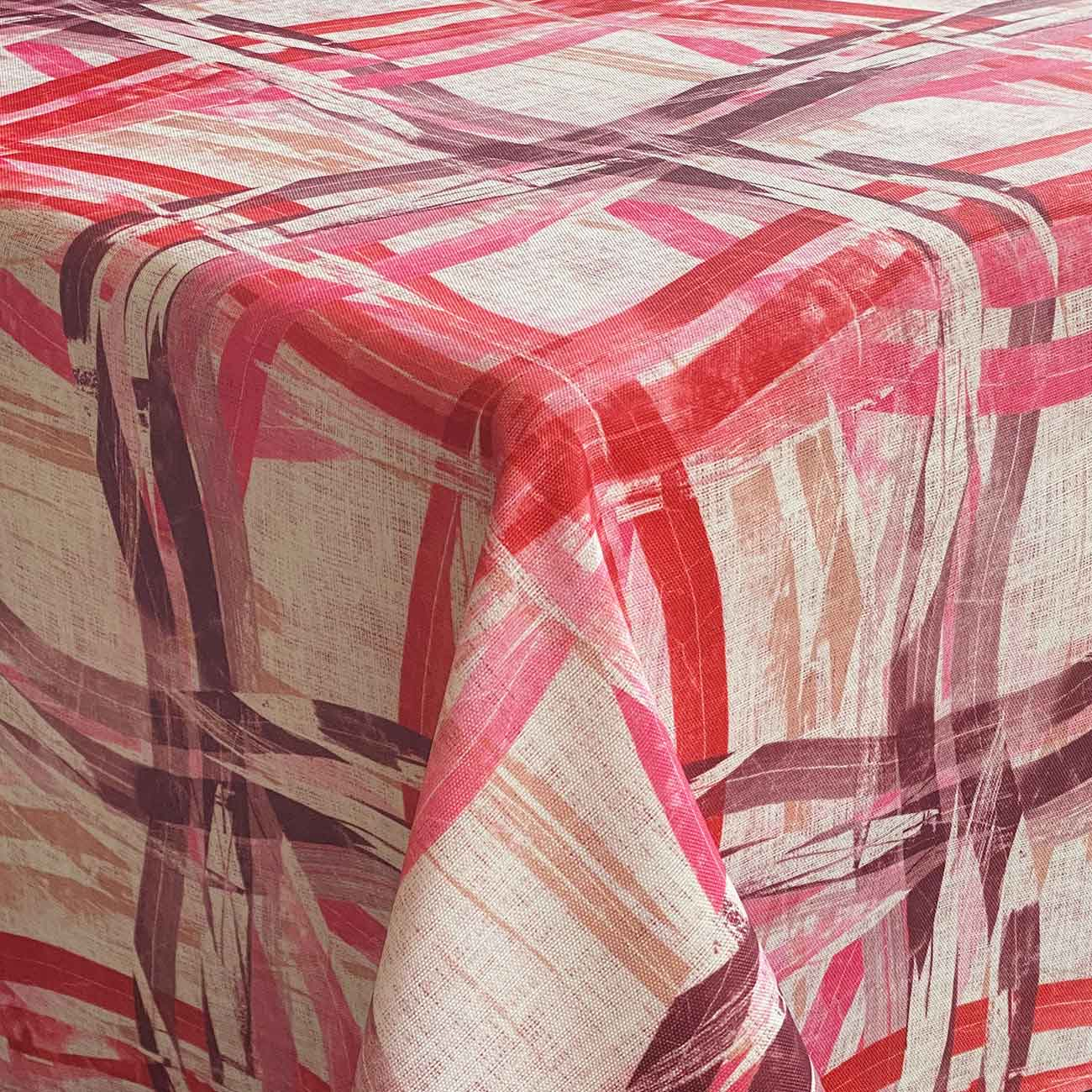 Stain and mothproof tablecloth, bordeaux design